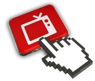 Icône de TV Photo stock
