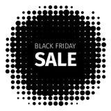 Icône de vacances de Black Friday rétro dans le style tramé Image libre de droits