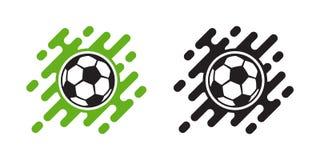 Icône de vecteur de ballon de football d'isolement sur le blanc Icône de boule du football illustration de vecteur