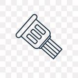 Icône de vecteur de câble d'isolement sur le fond transparent, cabine linéaire illustration libre de droits