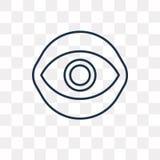 Icône de vecteur de Caodaism sur le fond transparent, linéaire illustration stock