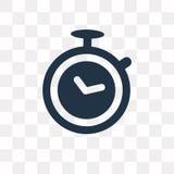 Icône de vecteur de chronomètre d'isolement sur le fond transparent, Chro illustration de vecteur