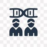 Icône de vecteur de clonage d'isolement sur le fond transparent, clonage illustration libre de droits