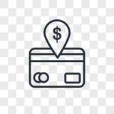 icône de vecteur de débit direct d'isolement sur le fond transparent, conception de logo de débit direct Image stock