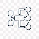 Icône de vecteur d'écoulement d'isolement sur le fond transparent, écoulement linéaire illustration stock
