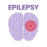 Icône de vecteur d'épilepsie illustration libre de droits