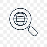Icône de vecteur d'exploration d'isolement sur le fond transparent, ligne illustration stock