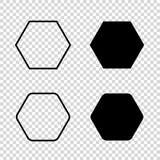 Icône de vecteur d'hexagone illustration de vecteur