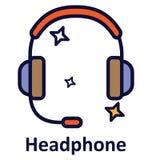 Icône de vecteur d'isolement par écouteur qui peut facilement modifié ou éditer illustration libre de droits