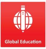 Icône de vecteur d'isolement par éducation globale qui peut facilement modifié ou éditer illustration libre de droits