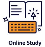 Icône de vecteur d'isolement par étude en ligne qui peut facilement modifié ou éditer illustration de vecteur