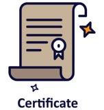 Icône de vecteur d'isolement par certificat qui peut facilement modifié ou éditer illustration de vecteur
