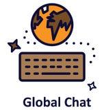 Icône de vecteur d'isolement par diagramme global qui peut facilement modifié ou éditer illustration libre de droits