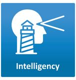 Icône de vecteur d'isolement par intelligence qui peut facilement modifié ou éditer illustration de vecteur