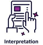 Icône de vecteur d'isolement par interprétation qui peut facilement modifié ou éditer illustration de vecteur