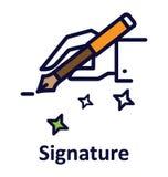 Icône de vecteur d'isolement par signature qui peut facilement modifié ou éditer illustration de vecteur