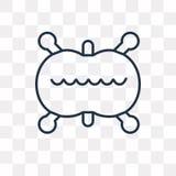 Icône de vecteur de division cellulaire d'isolement sur le fond transparent, Li illustration stock
