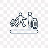 Icône de vecteur de file d'attente d'aéroport d'isolement sur le fond transparent, Li illustration libre de droits