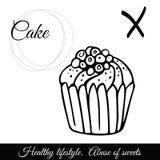 Icône de vecteur de gâteau d'ensemble Un symbole de nourriture industrielle Photographie stock