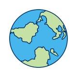 Icône de vecteur de globe illustration stock