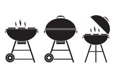 Icône de vecteur de gril de barbecue Illustration de Vecteur