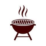 Icône de vecteur de gril de BBQ Images stock