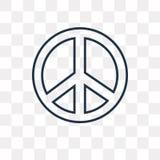 Icône de vecteur de pacifisme d'isolement sur le fond transparent, linéaire illustration libre de droits