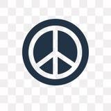 Icône de vecteur de pacifisme d'isolement sur le fond transparent, Pacifis illustration stock