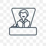 Icône de vecteur de patron d'isolement sur le fond transparent, patron linéaire illustration libre de droits