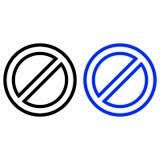 Icône de vecteur de restriction illustration libre de droits