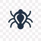 Icône de vecteur de scarabée d'isolement sur le fond transparent, scarabée t illustration libre de droits
