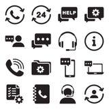 Icône de vecteur de service de support Photos libres de droits
