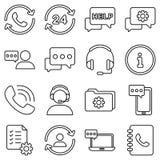 Icône de vecteur de service de support Photographie stock libre de droits