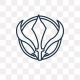 Icône de vecteur de Sikhisme sur le fond transparent, S linéaire illustration stock