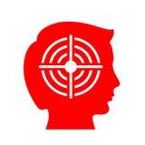 Icône de vecteur de tête et de boudine illustration libre de droits