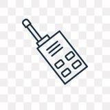 Icône de vecteur de talkie-walkie d'isolement sur le fond transparent, Li illustration de vecteur