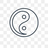 Icône de vecteur de taoïsme d'isolement sur le fond transparent, ventres linéaires illustration stock