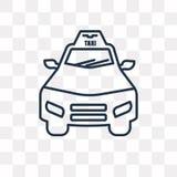 Icône de vecteur de taxi d'aéroport d'isolement sur le fond transparent, lin illustration stock