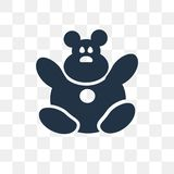 Icône de vecteur de Teddy Bear d'isolement sur le fond transparent, nounours illustration de vecteur