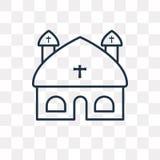 Icône de vecteur de Vatican sur le fond transparent, V linéaire illustration de vecteur