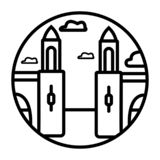 Icône de vecteur de Venise d'isolement sur le fond transparent, concept de logo de Venise illustration stock