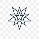Icône de vecteur de Wicca d'isolement sur le fond transparent, Wic linéaire illustration libre de droits