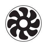 Icône de ventilateur de fan d'air Illustration de Vecteur