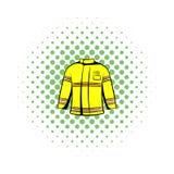 Icône de veste de sapeur-pompier, style de bandes dessinées illustration libre de droits