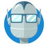 Icône de visage de Bot de causerie Images libres de droits