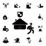 icône de vol de maison Ensemble détaillé d'icônes d'assurance Signe de la meilleure qualité de conception graphique de qualité Un Photo stock