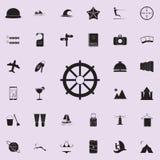 Icône de volant de commande Ensemble détaillé d'icônes de plaisir d'été Signe de la meilleure qualité de conception graphique de  illustration de vecteur