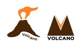 Icône de volcan Vecteur Photos libres de droits