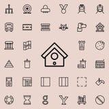 Icône de volière Ensemble détaillé de ligne minimalistic icônes Conception graphique de la meilleure qualité Une des icônes de co illustration libre de droits
