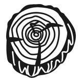 Icône de vue supérieure de tronçon, style simple illustration libre de droits